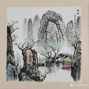李振军国画作品-《桂林山水甲天下2》