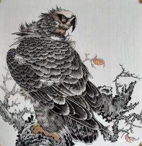 谷风国画作品《鹰-霸者之气》价格800.00元