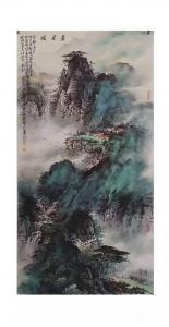周顺生国画作品-《四尺精品定制春居图》
