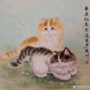 徐景莲国画作品《双猫图》价格1000.00元