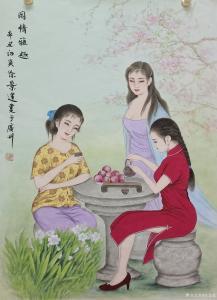 徐景莲国画作品《中国美女-闲情雅趣》价格3000.00元