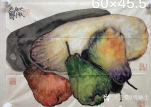 周顺生国画作品《瓜果梨子小品欣赏》价格26999.00元