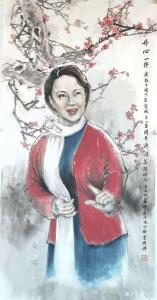 李伟强国画作品《人物画-丹心一片》议价