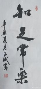 陈文斌书法作品-《知足常乐》