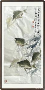 冯增木国画作品《鱼-金鳞引春风》议价