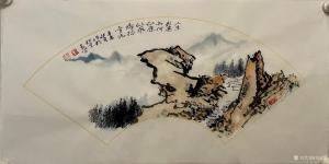 刘玉坚国画作品《山水-应似飞鸿踏雪泥》议价