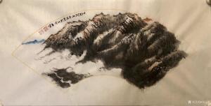 刘玉坚国画作品《山水画-大好河山》议价