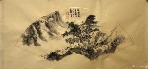 刘玉坚国画作品《山水画-溪山访友图》议价