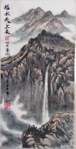 刘开豪国画《福水天上来》