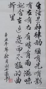 刘开豪书法《《生活是种律动》》