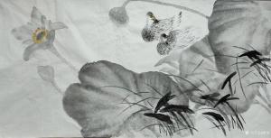 雅涵国画作品-《清韵》