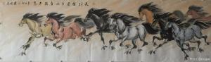 刘建国国画作品-《马-天行健》