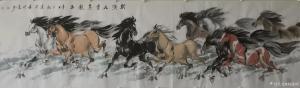 刘建国国画作品-《马-斯须九重真龙出》