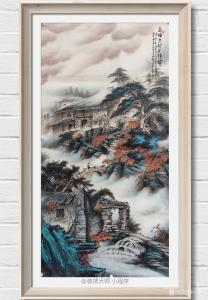 周顺生国画作品《四尺高墙古村石头城》价格1888.00元
