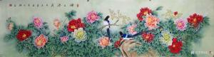 吴进海国画作品-《锦上添花》