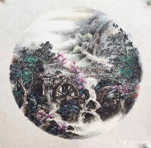 周顺生国画作品《三尺斗方红溪仙境》价格800.00元