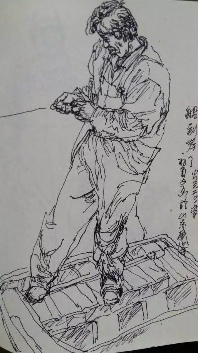 赵国毅日记-近日带人民大学画院学生在山东威海成山头渔场画写坐【图3】