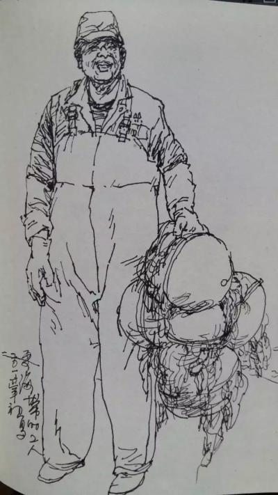 赵国毅日记-近日带人民大学画院学生在山东威海成山头渔场画写坐【图4】