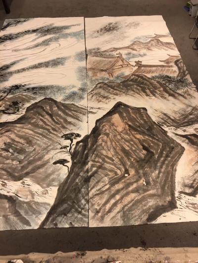周鹏飞日记-国画《尼山颂圣图》吾历时半年创作完成:尺寸36米X5、5米   ,周鹏飞【图3】