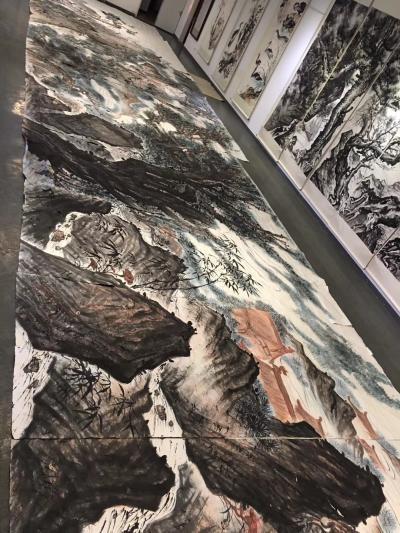 周鹏飞日记-国画《尼山颂圣图》吾历时半年创作完成:尺寸36米X5、5米   ,周鹏飞【图5】