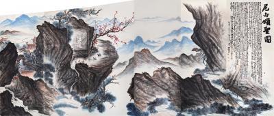 周鹏飞日记-国画《尼山颂圣图》吾历时半年创作完成:尺寸36米X5、5米   ,周鹏飞【图6】