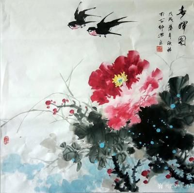 罗欣科日记-国画《春晖图》《喜韵图》,罗欣科作品【图1】
