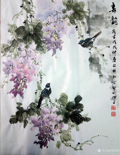 罗欣科日记-国画《春晖图》《喜韵图》,罗欣科作品【图2】