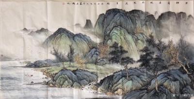 胡坚谋日记-四尺精品山水现货,胡坚谋国画【图1】