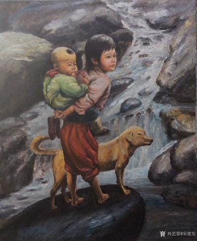 宋德发日记-体现姐弟亲情的水粉人物画4幅,是否有感【图1】