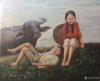 宋德发日记-体现姐弟亲情的水粉人物画4幅,是否有感【图2】