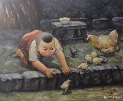 宋德发日记-体现姐弟亲情的水粉人物画4幅,是否有感【图3】