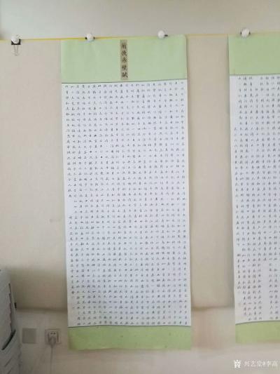 """李高日记-两幅作品奋战了十二天       录《前后赤壁赋》""""壬戌之秋,七月既望,苏子与【图2】"""