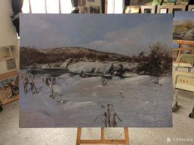 宋德发日记-新完成的两幅油画《雪原》,《晨读》,存储到兴艺空间【图1】