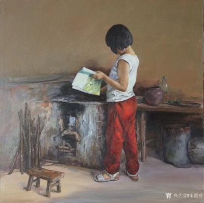 宋德发日记-新完成的两幅油画《雪原》,《晨读》,存储到兴艺空间【图2】