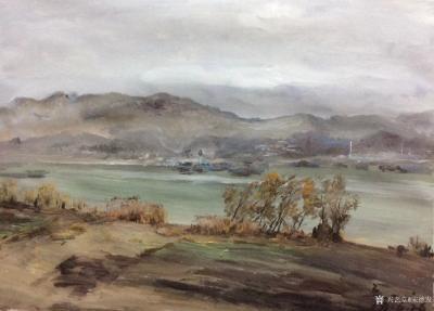 宋德发日记-已被藏家朋友收藏的水粉画:《隔江相望》,《回家》,《小水塘》,回忆是可以挂起来的【图2】