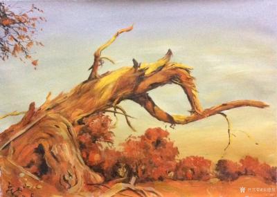宋德发日记-水粉画《树》系列作品4幅,2018年作,尺寸60x40cm,欢迎订制【图3】