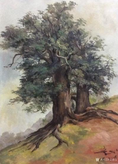 宋德发日记-水粉画《树》系列作品4幅,2018年作,尺寸60x40cm,欢迎订制【图4】