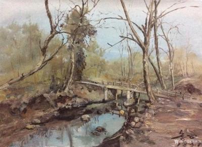 宋德发日记-水粉画小树林写生系列作品5幅,展示大自然的法则【图2】