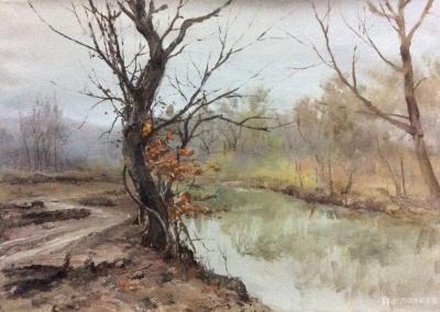 宋德发日记-水粉画小树林写生系列作品5幅,展示大自然的法则【图3】