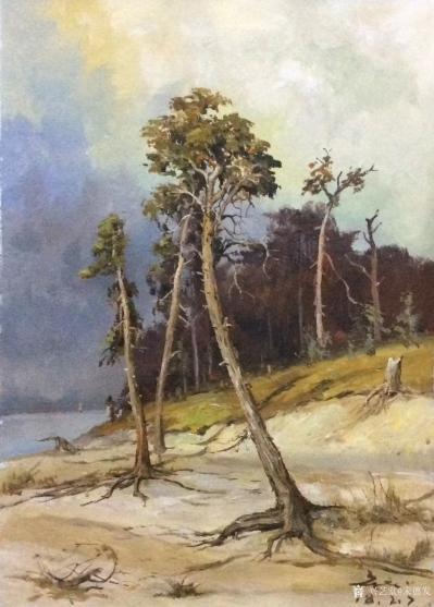 宋德发日记-水粉画小树林写生系列作品5幅,展示大自然的法则【图4】