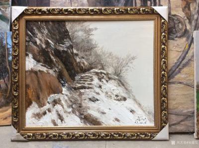 宋德发日记-水粉画荒野雪景作品一组,已经按客户要求装裱好准备发货【图2】