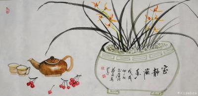 苏进春日记-近期作品:《室静兰香》50x100Cm,作品《鸿运当头》50x100Cm,作品《【图1】