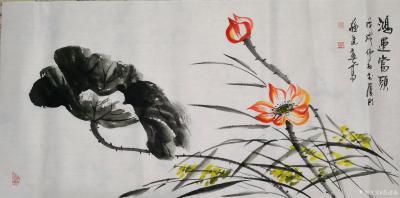 苏进春日记-近期作品:《室静兰香》50x100Cm,作品《鸿运当头》50x100Cm,作品《【图2】