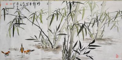 苏进春日记-近期作品:《室静兰香》50x100Cm,作品《鸿运当头》50x100Cm,作品《【图4】