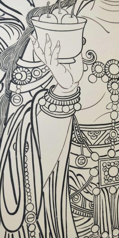 战乃明日记-弥勒说法图线描绘制中。佛出世间以利生为本怀,凡有所作,皆想带给众生安乐,拔除众生【图4】