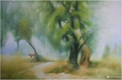 冯保民日记-水彩画《乡间》系列作品欣赏,四开原创小品5幅,体味书写的快乐……【图2】