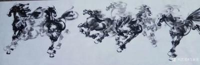 马新荣收藏-收藏到著名画家楼进勇老师的国画《八骏雄风图》[耶]【图1】