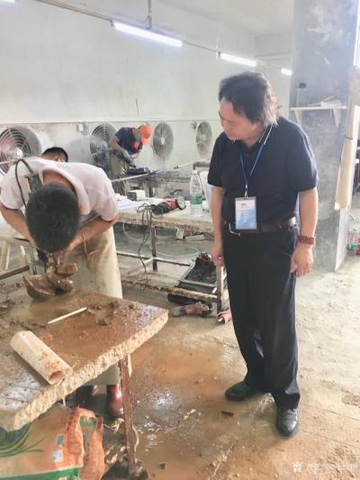 叶仲桥收藏-10月9日获邀参加2018年云浮市石材工艺制作比赛评委,参赛选手的水平比上届的水【图6】