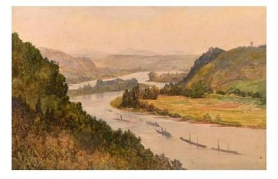 王征明收藏-希特勒与王征明的绘画对比; 1德国希特勒的水彩画:描绘了德国莱茵兰和他的祖国奥【图2】