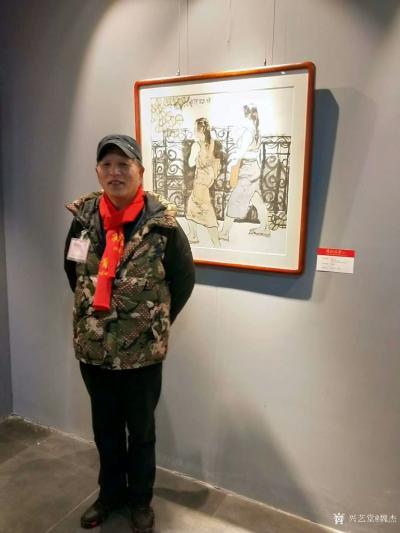 """魏杰生活-""""两江风骨""""中国画作品展于春节期间举行,我的作品参展,分享展会期间人潮涌动的场景【图3】"""
